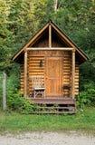 Costruzione di legno di sauna Fotografia Stock