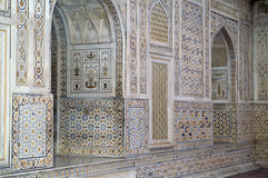 Costruzione di marmo intarsiata decorata Fotografia Stock Libera da Diritti