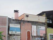 Costruzione di mattone sotto il demolution Bad Reichenhall Germania Fotografia Stock