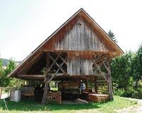 Costruzione di memoria di legno slovena Fotografia Stock Libera da Diritti