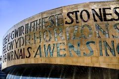 Costruzione di millennio, Cardiff fotografia stock libera da diritti