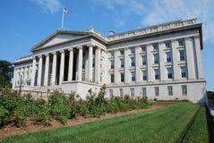 Costruzione di Ministero del Tesoro degli Stati Uniti Fotografie Stock Libere da Diritti