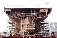 Costruzione di nave. Immagini Stock Libere da Diritti