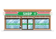 Costruzione di negozio di alimentari illustrazione vettoriale