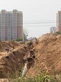 Costruzione di nuova strada Fotografia Stock Libera da Diritti