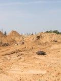 Costruzione di nuova strada moderna, Russia Fotografia Stock
