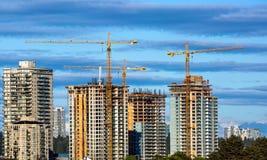 Costruzione di nuova zona residenziale fotografie stock libere da diritti