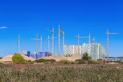 Costruzione di nuovi edifici Fotografie Stock Libere da Diritti