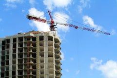 Costruzione di nuovo edificio in condominio immagini stock