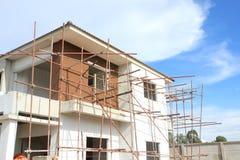 Costruzione di nuovo edificio domestico Immagini Stock