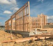 Costruzione di nuovo edificio domestico, Nuova Zelanda fotografia stock