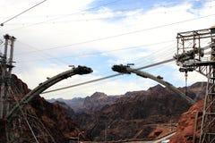 Costruzione di nuovo ponticello della diga di Hoover Immagine Stock Libera da Diritti