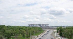 Costruzione di nuovo stadio per la coppa del Mondo 2018 della FIFA Dalla p Fotografie Stock