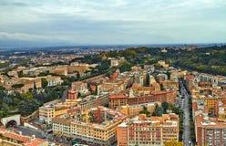 Costruzione di panorama di Roma fotografia stock libera da diritti