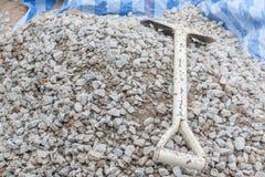 Costruzione di pietra della ghiaia Immagine Stock