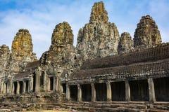Costruzione di pietra sul territorio di Angkor Wat cambodia immagini stock libere da diritti