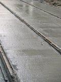 Costruzione di pista della linea tranviaria Immagini Stock