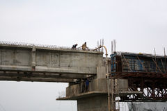 Costruzione di ponte Fotografie Stock Libere da Diritti