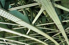 Costruzione di ponte d'acciaio Immagine Stock