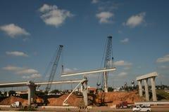 Costruzione di ponte da uno stato all'altro 69 vicino ad Houston, il Texas Fotografia Stock Libera da Diritti