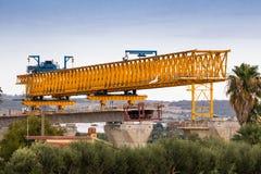 Costruzione di ponte dell'autostrada Fotografie Stock