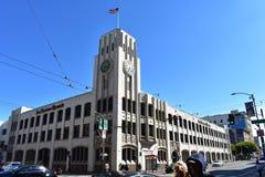 Costruzione di pubblicazione del giornale di San Francisco Chronicle, 1 fotografia stock libera da diritti