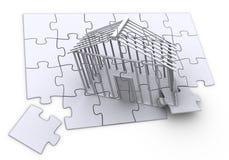 Costruzione di puzzle Immagini Stock