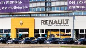 Costruzione di Renault Retail Group sulla via di Thurgauerstrasse a Zurigo Fotografia Stock