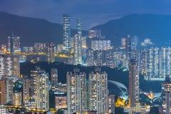 Costruzione di residenza della città di Hong Kong Immagini Stock Libere da Diritti