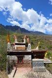 Costruzione di residenza piega tibetana tradizionale in un villaggio ben conservato, Danba, Sichuan, Cina Immagini Stock