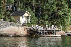 Costruzione di sauna immagine stock