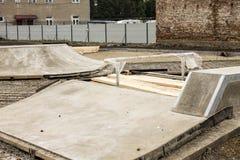 Costruzione di Skatepark Fotografie Stock