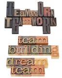 Costruzione di squadra e di lavoro di squadra Fotografia Stock