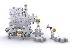 Costruzione di squadra un puzzle. concetto eveloping.