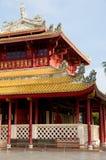 Costruzione di stile cinese al PA di scoppio dentro, la Tailandia Fotografia Stock