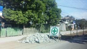 Costruzione di strade Immagine Stock Libera da Diritti