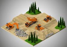 Costruzione di strade e macchinario in questione illustrazione vettoriale