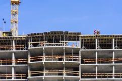 Costruzione di un edificio residenziale Fotografia Stock