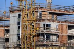 Costruzione di un edificio residenziale Fotografie Stock Libere da Diritti