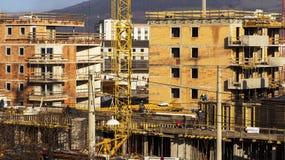 Costruzione di un edificio residenziale Immagini Stock