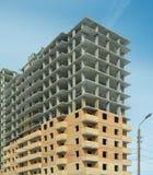 Costruzione di un edificio residenziale di palazzo multipiano moderno Fotografia Stock