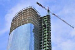 Costruzione di un grattacielo Immagine Stock
