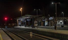 Costruzione di vecchia stazione nella città di Ceska Lipa Fotografie Stock Libere da Diritti