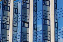 Costruzione di vetro Fotografia Stock