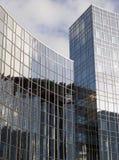 Costruzione di vetro del particolare Immagine Stock