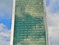 Costruzione di vetro verde Immagini Stock