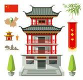 Costruzione di vettore della progettazione di viaggio della Cina illustrazione vettoriale