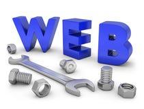 Costruzione di web Immagine Stock