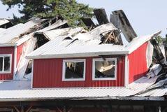 Costruzione distrussa da incendio Fotografie Stock