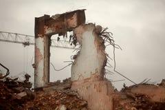 Costruzione distrutta Fotografia Stock Libera da Diritti